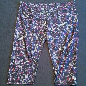 Fabletics Gia Printed PowerLite Crop, Size 2X